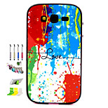 Color Pattern Combo Material Phone Case And Support Dust Plug Stylus Pen  for Samsung Galaxy Grand Neo I9060