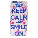 Keep Calm and Smile On Pattern Hard Case Cover for iPhone 6 Plus