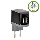 CE Certified Dual USB Wall Charger, Europe Plug,5V 2.1A output, for iPhone 5 iPhone 6/Plus, iPad Air, iPad Mini, iPad4