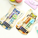 1+3 Owl Pattern Student Fountain Pen and Paper Clip Set