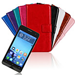 Solid Color PU Leather Full Body Case with Stand and Card Slot for Zenfone 5 A500KL(Assorted Color)