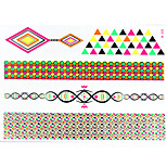 1 PC Fluorescent Color Tattoos Stickers  for Body Makeup W328
