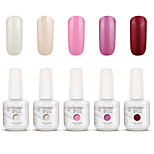 Gelpolish Nail Art Soak Off UV Nail Gel Polish Color Gel Manicure Kit 5 Colors Set S113