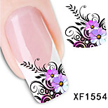 5Pcs Beautiful Flower Pattern 3D Nail Stickers
