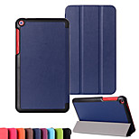 Solid Color Custer Luxury Leather Flip Full Body Case for Asus FE8030CXG 8 inch (Assorted Colors)