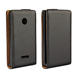 Genuine Leather Vertical Flip Magnetic Button Leather Case for Microsoft Lumia 435