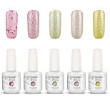 Gelpolish Nail Art Soak Off UV Nail Gel Polish Color Gel Manicure Kit 5 Colors Set S109