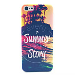 Summer Story Pattern Transparent Frosted PC Back Cover  For iPhone 5C
