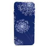 Black Dandelion Pattern Plastic Hard Cover for iPhone 6