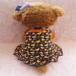 Holdhoney Yellow And Black Shape Ornament Cotton Vest Dresses For Pets Dogs (Assorted Sizes) #LT15050130