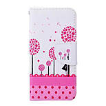 Dandelion  Pattern PU Leather Phone Case For iPhone 6