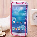 transparante flip gratis turn aanraking TPU triple telefoon geval voor Samsung i9500 s4 (verschillende kleuren)