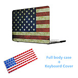 Newest Fashion American Flag Pattern Full Body Hard Case with TPU Keyboard Cover for Macbook Retina 15.4 inch