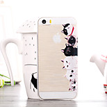 Cat Family Pattern TPU Soft Case for iPhone 5/5S