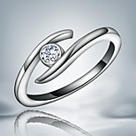 Fashionable women real 925 silver plated party Promise Ring