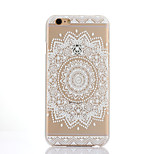 Round Printing Pattern Thin Transparent Hollow PC Phone Case for iPhone 6 Plus