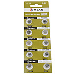 COMSAN AG2 LR726 396 SR726 196 High Capacity Button  Batteries (10PCS)
