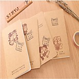 Cute Retro Brown Paper Style Notebook(Random Color)