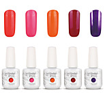 Gelpolish Nail Art Soak Off UV Nail Gel Polish Color Gel Manicure Kit 5 Colors Set S129
