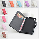 PU Leather Protective Case With Holder Stand for Sony Xperia Z3(Assorted Colors)