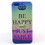 Happy Pattern Transparent Frosted PC Back Cover For  iPhone 5/5S