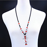 Women Red Agate Gourd Necklace