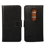 Genuine Leather Wallet Flip Stand Case for LG Leon