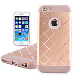 Soft Borders Metal Flash Diamond Backplane Grid Refinement Crafts Phone Case for iPhone 6(Assorted Colors)