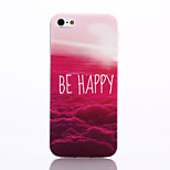 Red Cloud Pattern TPU Material Phone Case for iPhone 5/5S