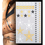 Lucky Star Gold Jewellery Tattoo Stickers Temporary Tattoos(1 pc)