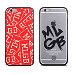Cool Word MLGB Skull Pattern Frame Back Cover for iPhone 6