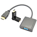HDMI V1.3 to VGA M/F Cable + HDMI Male to HDMI Female 180 Degree Rotatable Converting Adapter