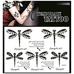 Tattoo Stickers Non Toxic/Pattern/Lower Back/Waterproof Animal Series Adult Black Paper 1 17*16 Dragonfly
