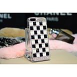 lusso di colore della caramella plaid diamante caso materiale del pc quadrato per iphone 6 da 4.7 pollici