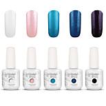 Gelpolish Nail Art Soak Off UV Nail Gel Polish Color Gel Manicure Kit 5 Colors Set S107