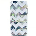 White Wave Pattern TPU Material Soft Phone Case for iPhone 5C