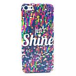 Sequin Pattern Transparent Frosted PC Back Cover For  iPhone 5/5S