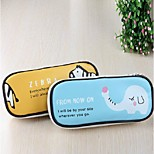 Lovely Creative High-Capacity Pen Bag Cartoon Pencil Case (Random Color)