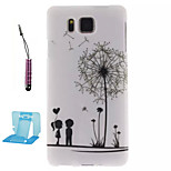 Dandelion  Pattern TPU Phone Case  for Samsung Galaxy Alpha/G850