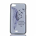 Feather Pattern PC Material Phone Case for Wiko LENNY