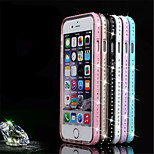 Multicolor Rhinestone Piano Metal Frame + TPU Phone Case For iPhone 6  (Assorted Colors)