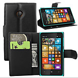 Litchi Around Open Bracket Leather Phone Wallet Card Suitable for Microsoft Lumia 435(Assorted Color)