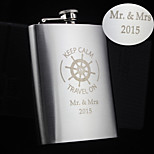 Personalized Gift 8oz Rudder Design Stainless Steel Flask