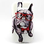 Cool Dog with Glasses Pattern Ultra Thin TPU Soft Back Cover Case for Alcatel One Touch Pop C5