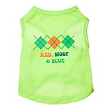 Fashionable Diamonds Letters Pattern Vest  for Pets Dogs (Green,XS-L)