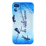 Angel Pattern Transparent Frosted PC Back Cover For  iPhone 4/4S