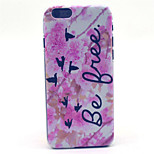 Pink flower delphinium Pattern Plastic Hard Cover for iPhone 6