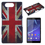 Flag Pattern Painted PC Material Phone Case for Sony Z3 Mini