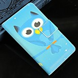 Sky Blue Owl PU Leather Full Body Protection Cover with Stand and Card Slot for Nokia Lumia N520