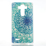 Blue and White Pattern Transparent Frosted PC Material  Phone Case for LG G4